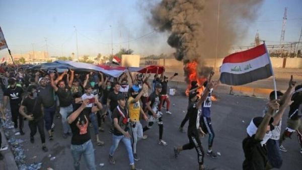 تظاهرات در حله عراق در اعتراض به بازداشت فعالان