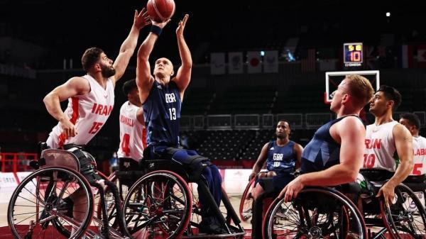 تیم ملی بسکتبال با ویلچر ایران 57 ، بریتانیا 69 ، نمایش درخشان ملی پوشان ایران با برد همراه نشد
